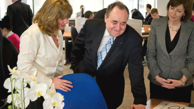Anne Widdop meeting Alex Salmond