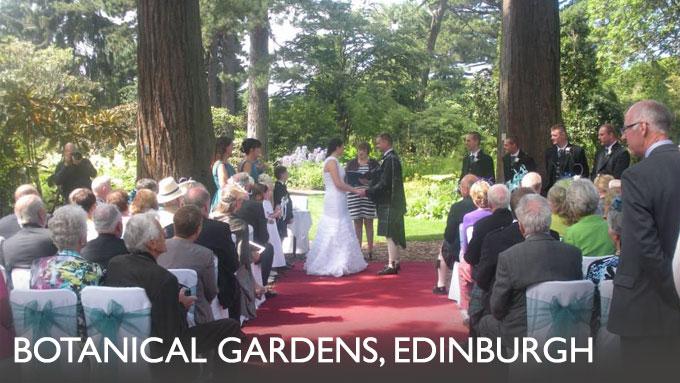 Outdoor Wedding Ceremony, Edinburgh